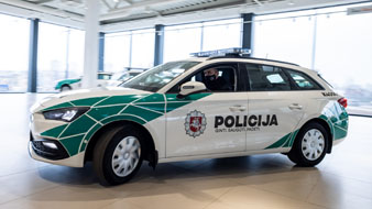 Lietuvoje policija keliuose patruliuos su SEAT